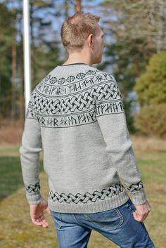 Ravelry: The Secret Viking pattern by Madeleine Bergh Sweater Knitting Patterns, Cardigan Pattern, Knitting Charts, Knitting Designs, Knit Patterns, Knitting Projects, Stitch Patterns, Viking Pattern, Vikings