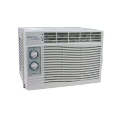 SOLEUS AIR SG-WAC-05SM 5,000 Cooling Capacity (BTU) Window Air Conditioner by Soleus Air. $155.00. Adjustable thermostat.; 2-Way directional louvers.; Loss of power protection with auto-restart.; 2 Cooling modes.; 2 Fan speeds.. This unit uses r-410a refrigerant so it is eco-friendly. It has 2 cooling modes 2 fan speeds and 2-way directional louvers. It also has a adjustable thermostat loss of power protection with auto-restart and a washable and reusable filter. r-410a refriger...