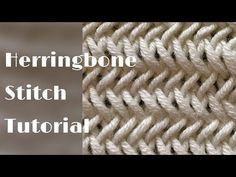 Herringbone stitch tutorial – stitch no.35 - YouTube