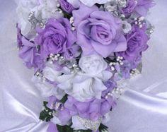Hochzeit Bouquet Bridal Silk Paket Blumen von Rosesanddreams