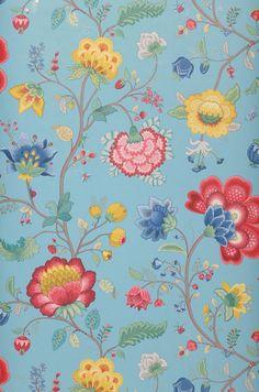 Belisama | Papel de parede floral | Padrões de papel de parede | Papel de parede dos anos 70