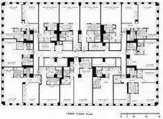 Typical lower floor plan of the Chestnut DeWitt