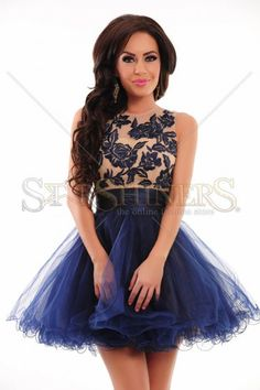 Sherri Hill 21219 DarkBlue Dress