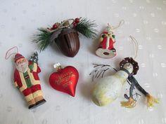 Christmas Tree House Decorating Ornaments Set of Five Destash #Christmas #Decorations #alexpals