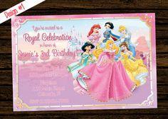 Custom Disney Princess Inspired Birthday by WoodsDesignStudio, $8.00