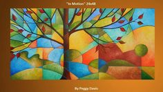 """Abstract Tree Painting """"In Motion"""""""