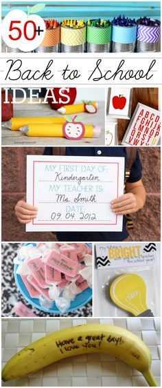 50+ Back to School ideas | Lot of printables to make your kid's first day back amazing, and gift ideas for their teacher too!