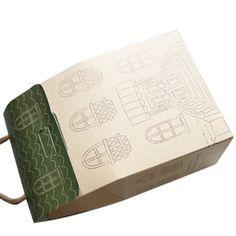 Cute gift packaging box.  Gift packaging idea.    Korean Design   http://www.morecozy.com/