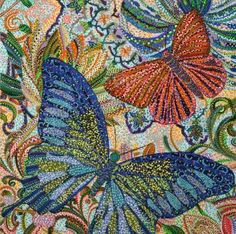 Add gallery-worthy appeal to your walls with this lovely canvas print, showcasing a butterfly motif in a pointillist-inspired style. Butterfly Artwork, Butterfly Wall Art, Butterfly Painting, Mandala Painting, Dot Painting, Mandala Artwork, Framed Canvas Prints, Canvas Frame, Canvas Size