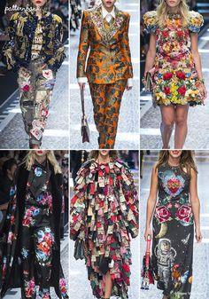 Milan's Fashion Week, RTW Fall 17 show was a riot of colour, texture and pattern when Dolce & Gabbana's latest collection hit the runway. The collectio
