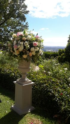 Classic urn decoration at Mount lofty house. By bliss flowers www.blissflowers.com.au phone 08 83812935