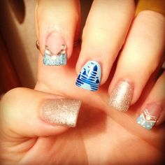 #nails #disney #disneynails #princessnails #cinderella #sparklenails