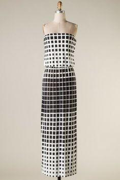 #salediem #springwardrobe #spring  Strapless tube cut banded waist square dot maxi dress