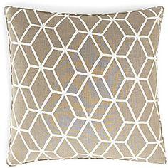 Bethe Tile Light Brown Linen Decorative Pillow