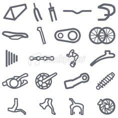 Nice simplified bike parts