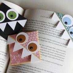 Corner Monster Bookmarks {Tutorial}