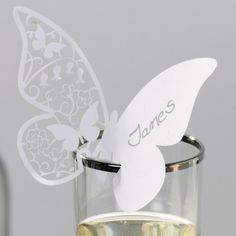 Hey, I found this really awesome Etsy listing at https://www.etsy.com/listing/124505008/20-white-butterfly-paper-place-card