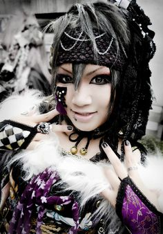 Mahiro from the band Kiryu. I like her costume, at least what I can see of it.