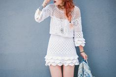 Crochet. Luanna Perez, Le Happy, Daily Look, Street Style, Crochet, Lace, Outfits, Dresses, Inspire