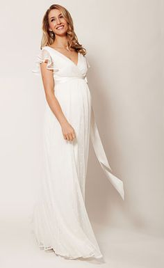 HANNAH GOWN LONG (IVORY) by Tiffany Rose