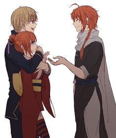 Okita Sougo x Kagura and Kamui | Gintama