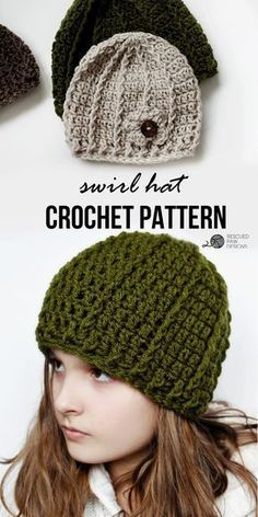Swirl Hat || FREE CROCHET PATTERN || Rescued Paw Designs Click to Read or Pin and Save for Later! via @rescuedpaw