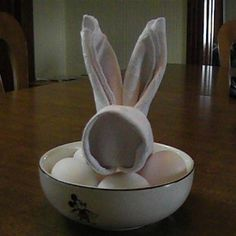 Cute Bunny Napkins for Easter