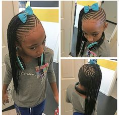 Neat Fishbone Braids - 20 Gorgeous Ghana Braids for an Intricate Hairdo in 2019 - The Trending Hairstyle Lil Girl Hairstyles, Natural Hairstyles For Kids, Kids Braided Hairstyles, My Hairstyle, Natural Hair Styles, Hairstyle Ideas, Teenage Hairstyles, Transitioning Hairstyles, Little Girl Braids