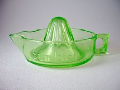 Vintage Rare Sunkist Green Glass Juicer or Reamer