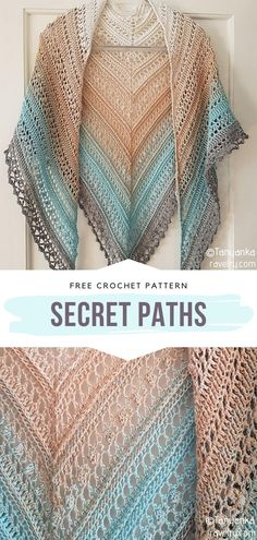 The simplest way to get chic is by pairing your outfits with Gradient Colorway Crochet Shawls. They are light and airy, therefore great for summer Crochet Shawl Diagram, Crochet Shawl Free, Crochet Shawls And Wraps, One Skein Crochet, Crochet Stitch, Crochet Triangle, Crochet Woman, Yohji Yamamoto, Crochet Clothes
