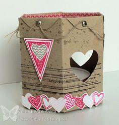 Tea light votive idea with the envelope punch board