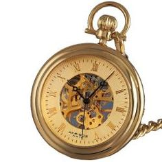 @Overstock - Akribos XXIV men's pocket watch showcases skeleton mechanical movement. This timepiece features a gold sunray pattern dial and goldplated chain. http://www.overstock.com/Jewelry-Watches/Akribos-XXIV-Mens-Mechanical-Gold-Pocket-Watch/5070624/product.html?CID=214117 $64.99