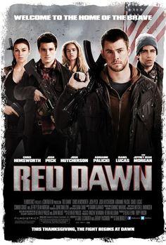 Red Dawn (2012) movie poster - starring Chris Hemsworth & Josh Hutcherson!!!