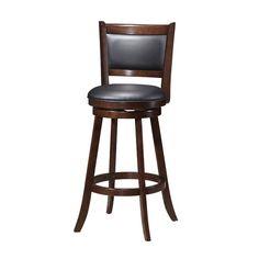 Red Barrel Studio Tuthill Wooden Swivel Bar Stool & Reviews | Wayfair.ca