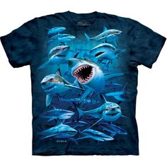 WISH YOU WERE HERE T-SHIRT The Mountain Great White Shark Jaws Kids Boy Girl NEW #TheMountain #Everyday