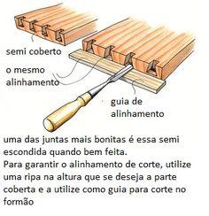 Ah! E se falando em madeira...: Quadro de dicas,  meio malhete