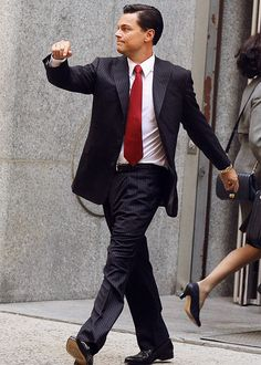 Leo is Strutting Again.  On the set of Martin Scorsese's TheWolf of Wall Street, Leonardo DiCaprio is posing for another meme.  I love Strutting Leo.