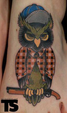 owl tattoo ... too, too cute