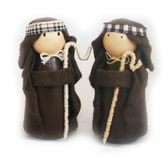 Troodlecraft - Christmas Peg Doll Nativity, Christmas Decoration for the Home Set