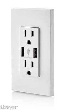 Leviton USB Adaptor Charger Tamper Resistant Outlet Plug Switch Receptacle