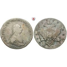 Russland, Peter III., Rubel 1762, ss: Peter III. 1762. Rubel 1762 St. Petersburg HK. Mit Riffelrand. Dav. 1862; sehr schön, kl.… #coins