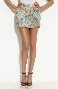 Edun Twisted Silk Miniskirt   Nordstrom