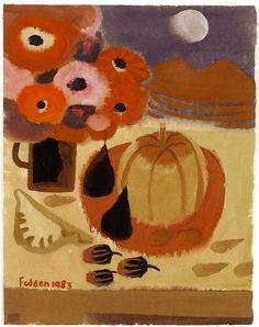Mary Fedden   Still Life with Pumpkin
