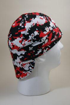 Red Digital Camo Welders Hat 85ae7e98ac82