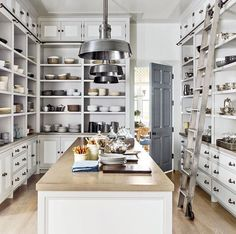 I would love to have this dish pantry in a house.  All I need is an extra room!