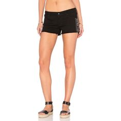 Black Orchid Lola Cut Off Short (10,805 INR) ❤ liked on Polyvore featuring shorts