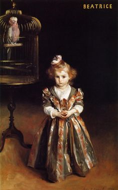 Beatriice Goelet -  By John Singer Sargent.  One of my top five painters.
