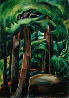 CarrIf you know me, you know I love Emily Carr. The movement and depth in her work is amazing! Emily Carr / Western Forest / / oil on canvas Canadian Painters, Canadian Artists, Landscape Art, Landscape Paintings, Forest Landscape, Creative Landscape, Emily Carr Paintings, Tom Thomson, Impressionist Paintings