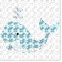 Cross Stitch Sea, Baby Cross Stitch Patterns, Cross Stitch Animals, Cross Stitch Charts, Plastic Canvas Crafts, Plastic Canvas Patterns, Fish Ornaments, Baby Whale, Canvas 5