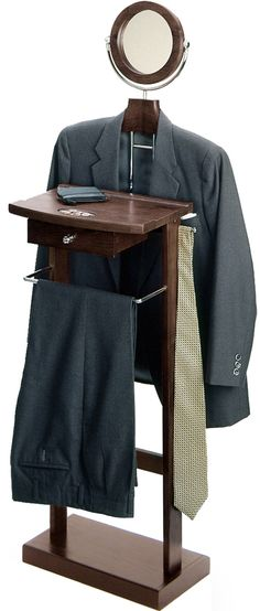 Valet Stand with Wood Base $89.92